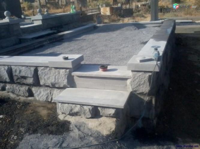 Bazalt, gerezmanaqarer, shub բազալտ, գերեզմանաքարեր