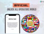 Koderi bacum iPhone բոլոր մոդելները Unlock Աշխարհի Ցանկացած երկրի կոդ apakodavorum
