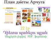 Դիետա պահելու պլան /22 էջ/, անգլերեն լեզվով  PDF  ֆորմատով План диеты/22 ст /. На английском, формате PDF
