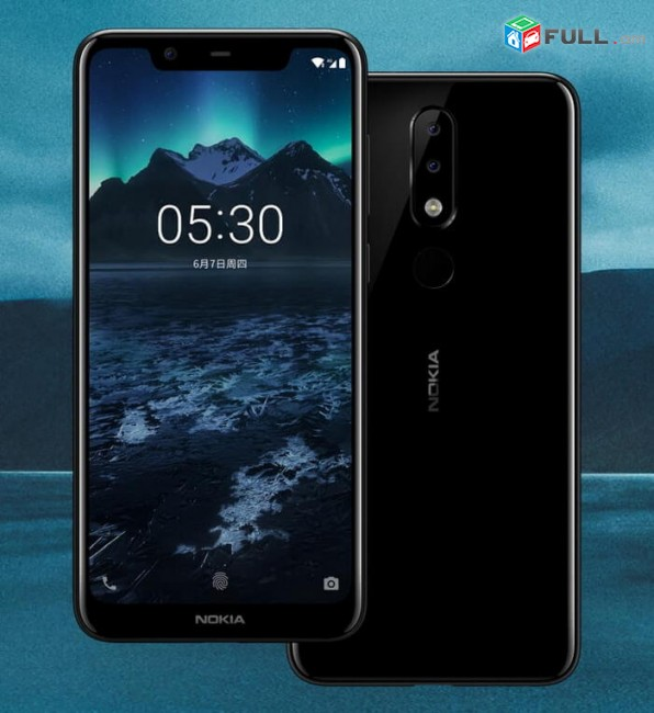 Nokia 5.1 plus, Nor, Erashxiqov, Sev