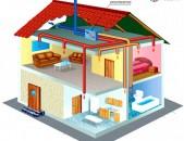 բնակարանների,առանձնատների օդորակման և օդափոխության համակարգերի տեղադրում