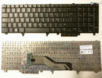 Keyboard Dell Latitude E5520 E6520 E6540  Original. Nore. erashxik. araqum