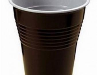 Պլաստիկ բաժակ Սուրճի ավտոմատների համար Երկգույն BLACK EDITION