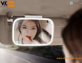 Xiaomi Baseus Makeup Car LED Mirror Автомобильное зеркало для макияжа Ավտոմեքենայի դիմահարդարման հայելի