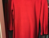 Զեղչ=Calvin Klein ARKAE KARMIR GUYN Two-Tone Bell-Sleeve Sweater Dress size L, 10, 12, zexchvac