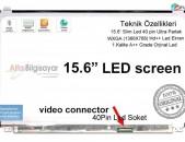 Display 15.6 led slim 40 pin + անվճար փոխարինում