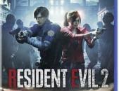 Resident Evil 2 Remake PS4 PS5 Playstation նոր փակ տուփ nor pak tup