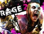 Rage 2 PS4 PS5 նոր փակ տուփ nor disk pak tup Playstation