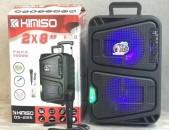 Բուֆեր դինամիկ մարտկոցով Բարձրախոս KIMISO QS-225  Լեդ լույսերով USB / TF / BT / FM / AUX / MIC / LED