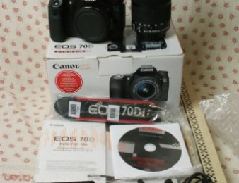 Canon EOS 70D DSLR Camera with Canon EF-S 18-135mm f/3.5-5.6 IS STM Lens,