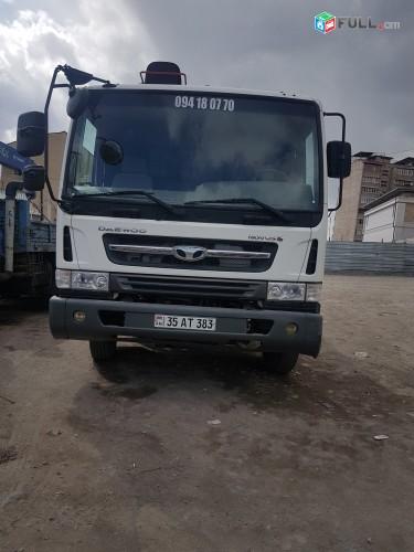 Կատարում ենք բեռնափոխադրումներ  DAEWOO    կռան մանիպուլյատորով