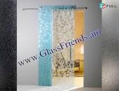 Apakya slayd drner Ապակյա Սլայդ Դռներ Ավազահարված նախշերով - GlassFriends