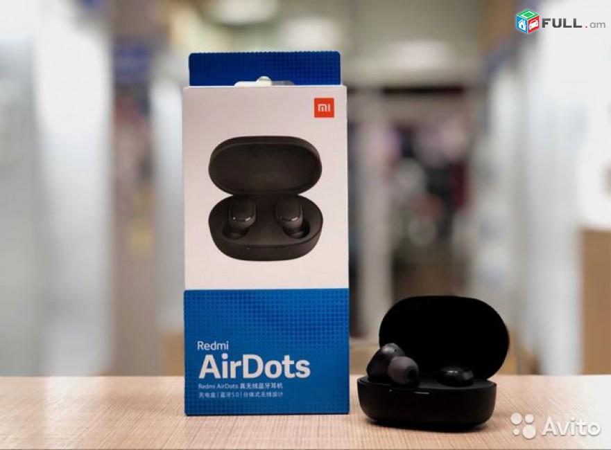 անլար ականջակալ Xiaomi Redmi Airdots, anlar akanjakal Xiaomi Redmi Airdots 2 беспроводные наушники Xiaomi Redmi Airdots