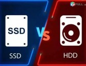 SSD 120Gb / SSD 240Gb / SSD 500Gb / SSD 1Tb / HDD 500Gb / HDD 1Tb / HDD 3Tb