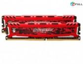 Լիովին նոր RAM / Օպերատիվ հիշողություն / Ballistix Sport LT / 16Gb / DDR4
