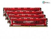 Լիովին նոր RAM / Օպերատիվ հիշողություն / Ballistix Sport LT / 32Gb / DDR4
