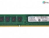 RAM / Օպերատիվ հիշողություն / Crucial / 8Gb / 1600Mhz / DDR3 / PC3 - 12800U