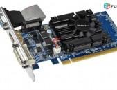 Видеокарта / վիդեոկարտա / GIGABYTE GeForce GT 610 / 1 Gb / 64 bit / GDDR3