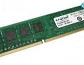 RAM / Օպերատիվ հիշողություն / Crucial / DDR3 / 4Gb / 1600Mhz / 1333Mhz