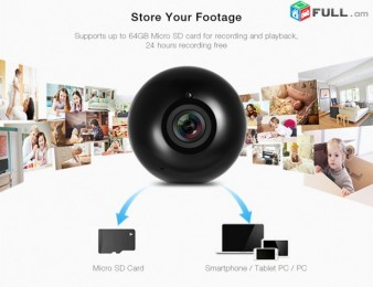 Sricam Panorama 960 P HD 360 градусов Wi-Fi Мини (online hetevel)