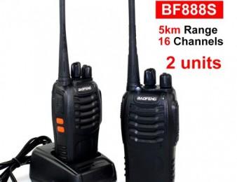 Racia Baofeng BF-888s (1-5km) radiokap 2 hat tupov (NOR) CHKA SENC GIN